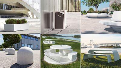 Exklusive Sitzmöbel aus Marmor und Beton